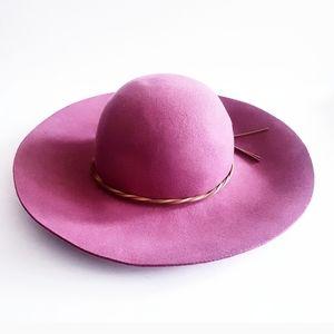 FOREVER 21 Dusty Rose Wide Floppy Brim Wool Hat